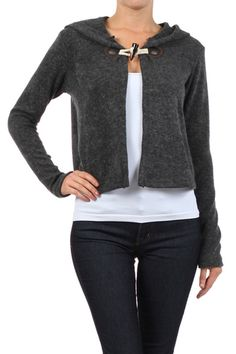 So cute and easy!  Cardigan with Toggle Closure