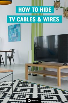 Discover clever ways to hide TV cables and wires. If the lack of cable organisation behind your TV is getting out of control, this post is a must-read.