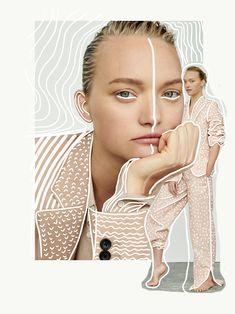 • Gemma Ward by Alexandra Nataf • collage by Nor Laura