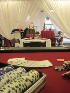 casino party rentals & decor ideas