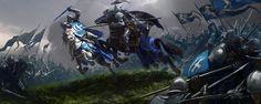 Knights Battle, Alexander Deruchenko on ArtStation at https://www.artstation.com/artwork/knights-battle