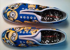 Custom Despicable Me Minions Shoes by EverTheFool on Etsy, $80.00