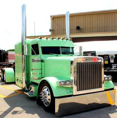 Mint green Peterbilt