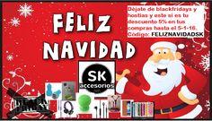 Feliz SK Navidad!!  Descuento del 5% en todas tus compras desde ya hasta el 5-1-2016. Ni blackfridays ni hostias, esto si es un descuento de verdad, 5%. Feliz Navidad en SKaccesorios.