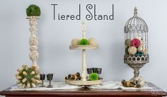 tiered stand, crafts, diy, home decor, how to, organizing
