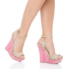 Cute Wedge Heels! I like the woven pattern on these