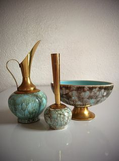 Vintage 60's Delftware Pottery Collection Mid Century by BetaGoods, $42