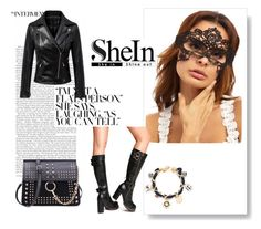 """&SHEIN 3/II &"" by nura-akane ❤ liked on Polyvore"