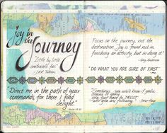 visual blessings: H-I-J Moleskine Journal Pages