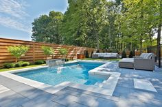 If you are working with the best backyard pool landscaping ideas there are lot of choices. You need to look into your budget for backyard landscaping ideas Small Backyard Pools, Backyard Pool Landscaping, Backyard Patio Designs, Swimming Pools Backyard, Outdoor Pool, Inground Pool Designs, Swimming Pool Designs, Rectangle Pool, Pool Landscape Design