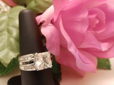 Stunning Vintage Crystal Cocktail Ring Size 8 by TheJewelryCabinet, $39.50