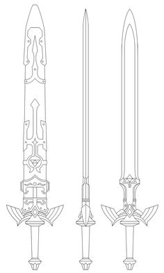 Master Sword blueprint (Twilight Princess) by fridator