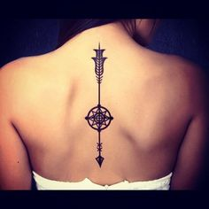 back arrow tattoo