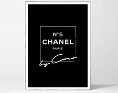 Items similar to Chanel No5 print, A3 12X18 inch poster White roses watercolor with gold effect -Printed Coco Chanel Chanel poster Chanel Art bedroom decor on Etsy