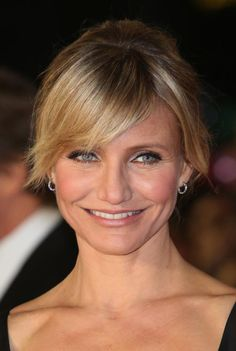 The Best Bangs for Your Face Shape: Great Bangs for a Round Face: Side-swept