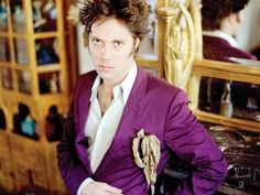 Rufus Wainwright, purple jacket w/ pocket square (or rather, pocket clump of fabric) Famous Musicians, Purple Jacket, Concert Hall, My Favorite Music, Favorite Things, Pure Beauty, Colour Images, New Music, Make Me Smile
