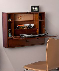 Look at this Brown Mahogany Wall Mount Laptop Desk on #zulily today!