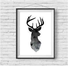 Deer géométrique imprimer Deer Head affiche cerf par PrintAvenue