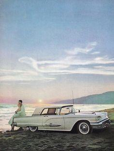 1959 Thunderbird on the beach