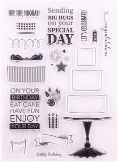 Clear Stamps Silicone,Clear Stamps for Card Making,YAOYAN Special Day Silicone Clear Seal Stamp DIY Scrapbooking Embossing Photo Decor Art