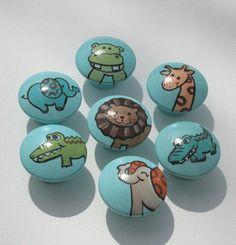 Animal Drawer Pulls  set of 8 by CariBimbi on Etsy, $36.00