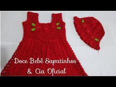 Crochet Baby Sweaters, Crochet Hats, Crochet Bikini Pattern, Crochet Patterns, Baby Girl Dresses, Flower Girl Dresses, Moda Crochet, Baby Dress Patterns, Crochet Videos