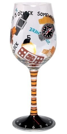 cute wine glass for him.