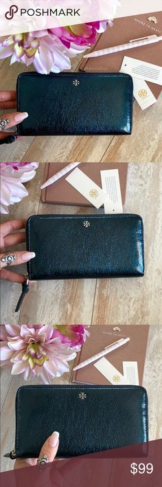 NWT Tory Burch zip metallic wallet Brand new with tags, price is firm!Gleam
