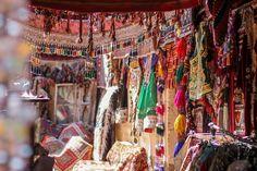 traditional Turkish little boutique shop.