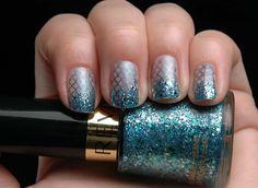 stamping + glitter = :)