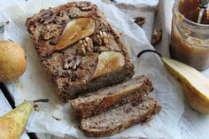 Gluten free pear, raisin, and walnut loaf