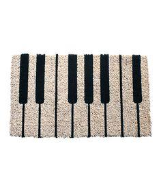Look what I found on #zulily! Piano Handwoven Doormat #zulilyfinds
