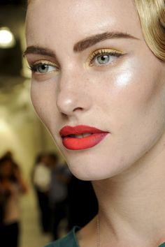 #xmas #nye #new #years #eve #Christmas #stylish #beauty #make #up #style #hair #gold #eye #red #orange #lips