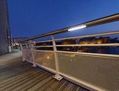 Recouvrance Bridge Handrail Detail / LEC Lighting by Woodhouse