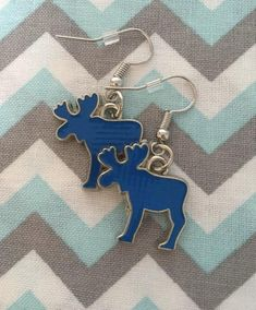 Enamel Blue MOOSE Earrings Fish Hook Dangle Earring Girl | Etsy Fish Hook Earrings, Girls Earrings, Dangle Earrings, Blue Moose, Unisex Gifts, Happy Shopping, Jewerly, Dangles, Handmade Items