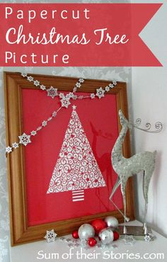 Papercut Christmas Tree Picture #TriplePFeature