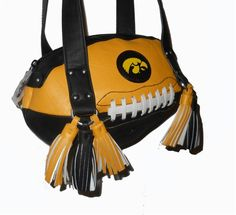 Iowa Hawkeye Football Shoulder Bag by Red 24 Sports Purses.  Buy it @ ReadyGolf.com