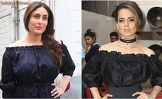 Kareena Kapoor or Kangana Ranaut, who pulled the ruched off-shoulder look better?