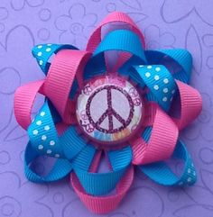 Hairbows  Girls Hair Accessories  Peace by oliviasgirlyboutique, $7.00