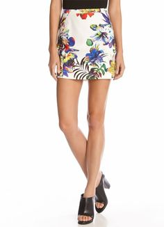 Tropical Scuba Mini Skirt from Red 23 at Art Effect