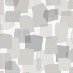 Collage Wallpaper Roll Gray from Tres Tintas Barcelona by Emiliana Design Studio
