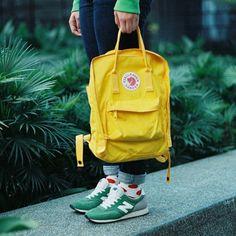 Color blocking - new balance - kanken backpack - happy socks