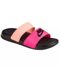 c5e918cdb97804 Nike Benassi Duo Ultra Slide Womens 819717-602 Pink Sunset Strap Sandals  Size 6