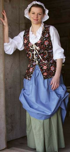 Long style sleeveless bodice extends over the hips and laces in front to close. Made of cotton fully lined. Many colors available. Please give measurements of bust, waist and neck to waist in back.