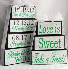 Sweet Table - Candy Bar - Wedding Sign - Centerpiece. $22.50, via Etsy.