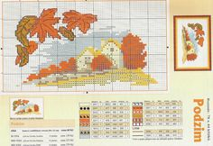 ru / Photo # 63 - Seasons - Nadya-S Cross Stitch House, Cross Stitch Charts, Counted Cross Stitch Patterns, Cross Stitch Embroidery, Season Calendar, Cross Stitch Landscape, Four Seasons, Needlepoint, Needlework