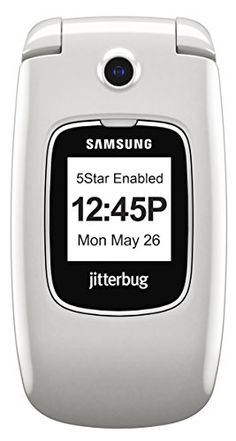 GreatCall Jitterbug5 Easy-to-Use Cell Phone and Medical Alert Device for Seniors - White