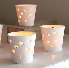 Stars Ceramic Tea Light Holder - styling your day