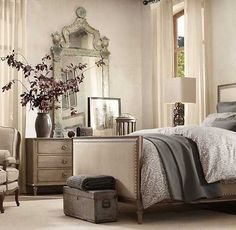 Love this look.  Obviously we would prefer a headboard and bed skirt instead of a complete bed.