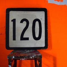 Wooden Highway Numbers - 120